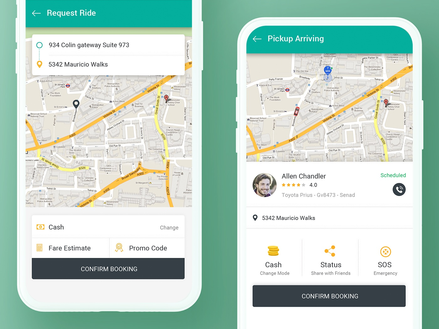 Cab Booking App Concept [Free PSD] by PSD Gang Creatives on
