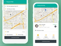 Cab Booking App Concept [Free PSD]