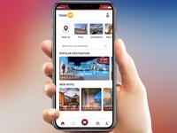 Hotel Booking App Concept Free PSD