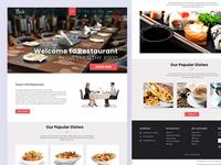 Restaurant website template UI PSD