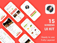 Fresh Food UI Concept Design PSD