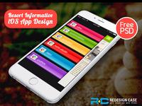 Resort Informative iOS App Design