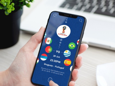 FIFA World Cup Russia 2018 App UI design profile flight booking app user profile psd app apps application booking app ios app free psd android