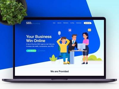 SEO White King Website Template website design webdesign ui design free psd