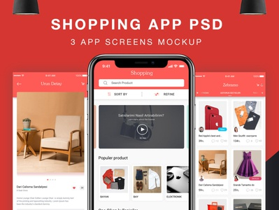 Shopping Ui DesignFurniture E-Commerce App PSD with Material UI profile ios psd flight booking app user profile booking app app apps application android app free psd