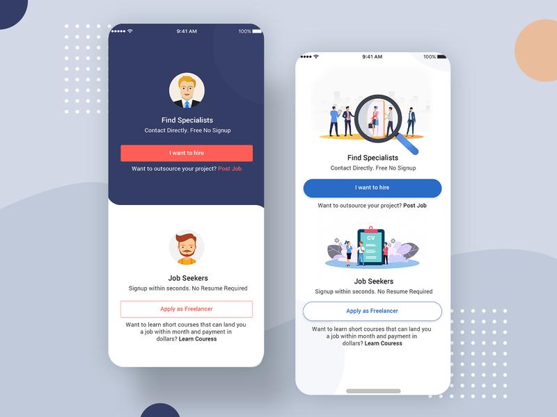 FREE Freelancer App Ui Design PSD design ui profile user profile app apps application psd ios app android free psd
