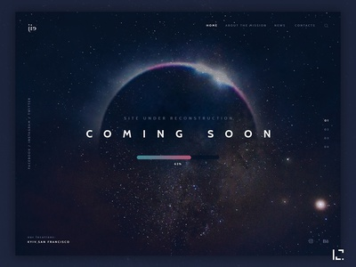 Coming Soon Page landingpage space uxdesign uidesign web