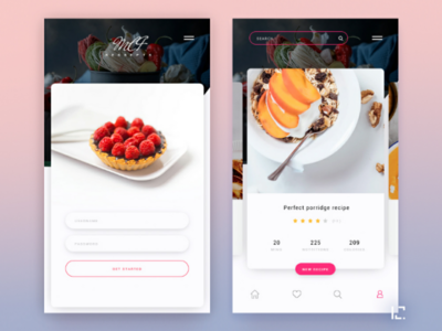 Cooking food app mobile design ios recipe design ux app ui food cook porridge