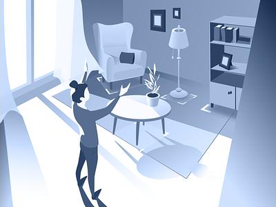 Furniture AR augmented reality furniture app furniture sketch flat design art vector illustration icon