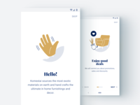 Hello hand icon