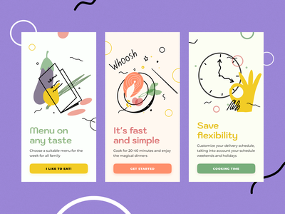 Food Delivery meal food cook kitchen fresh free delivery receipt box menu app ux ui flat design art vector illustration icon