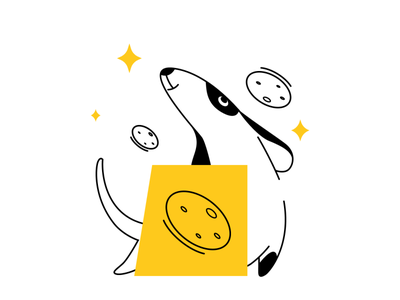 Deppa stickers stickers for imessage food dog app ux ui sketch flat design art vector illustration icon