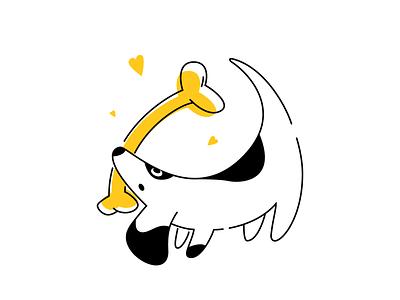 Deppa dog illustration pet food dog app ux ui sketch flat design art vector illustration icon