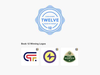 LogoLounge Book 12 design lines bolt lightning lettermark school crest hunting badge letter modern icon logo design logolounge logo