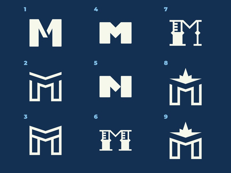 Mmmmmm compass rose compass nautical minimal m modern design letter custom school mark brand identity logo