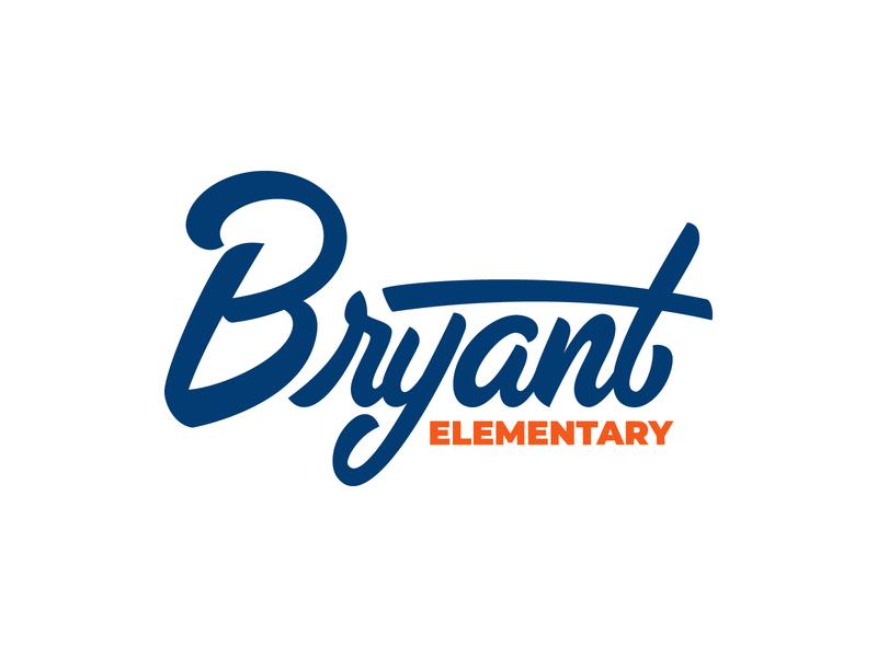 Bryant Script vector script school logo lettering handtype handlettering
