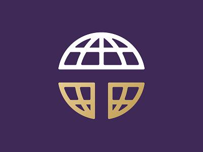 T Globe Logo crest name branding badgehunting badge brand identity school t world globe logo