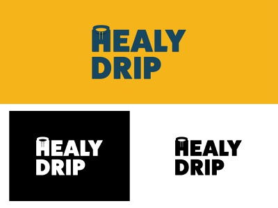 Healy Drip Logo logodesign branding design vector practice daily art flat dribbble brand identity logo branding