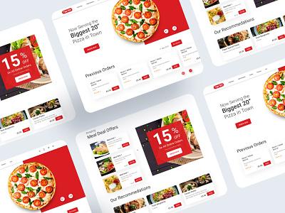 Restaurant Landing Page uidesign ui practice dribbble daily art webdesign website takeaway restaurant website online ordering foodwebsite