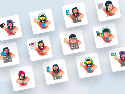 Characters of the teams flat character character design illustrator daily art vector team icon flat dribbble practice inspiration flat character design illustraion