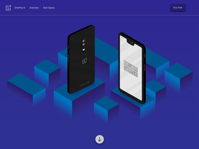 Daily Ui : Oneplus 6 homepage practice