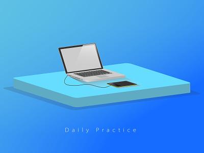 MacBook pro illustration gradient daily art wacom tablet macbook pro flat illustartion isometric