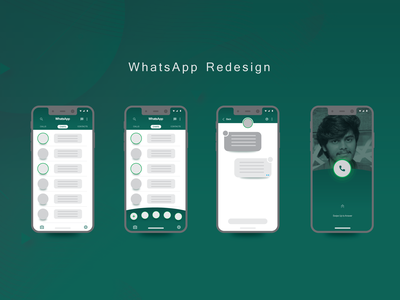 UI Practice: Whatsapp Redesign layoutdesign uipractice ui daily art daily ui ui practice practice re design whatsapp flat design uidesign gradient dribbble ui  ux