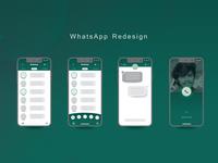 UI Practice: Whatsapp Redesign