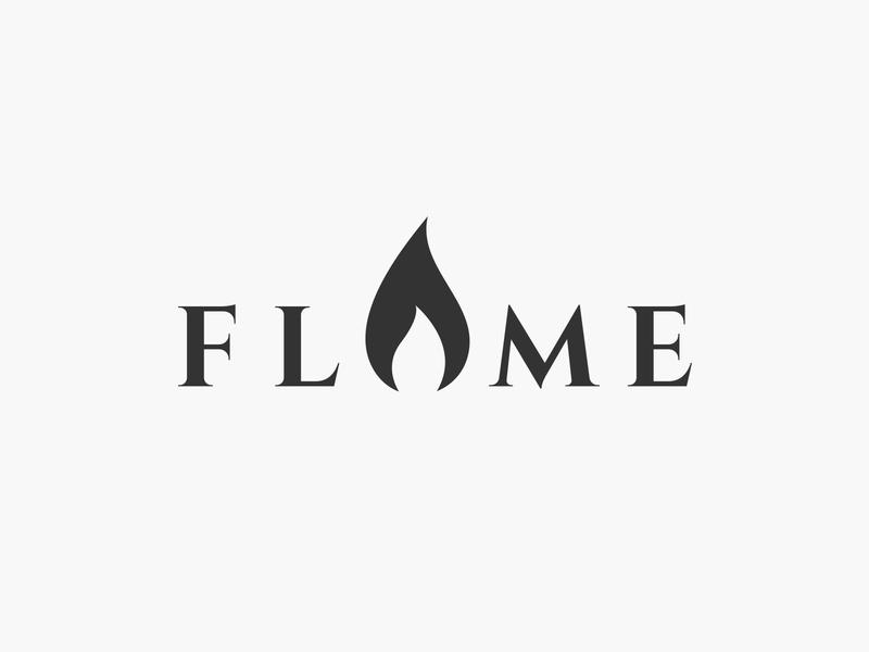 flame wordmark fire flame wordmark typography flat design vector simple logo clean