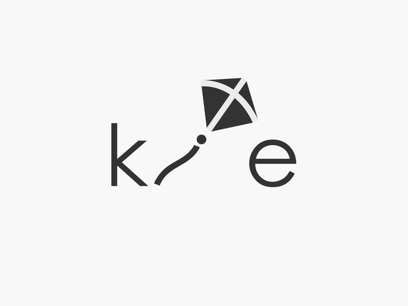 kite wordmark flyakite flying fly kite logotype wordmark typography flat design vector simple logo clean