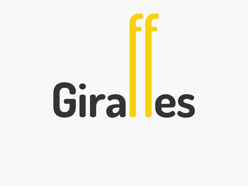 giraffes wordmark logotype wordmark typography flat design vector simple logo clean giraffes giraffe