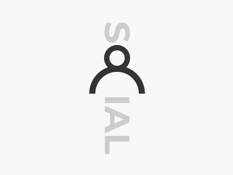 social wordmark logotype wordmark typography flat design vector simple logo clean person social