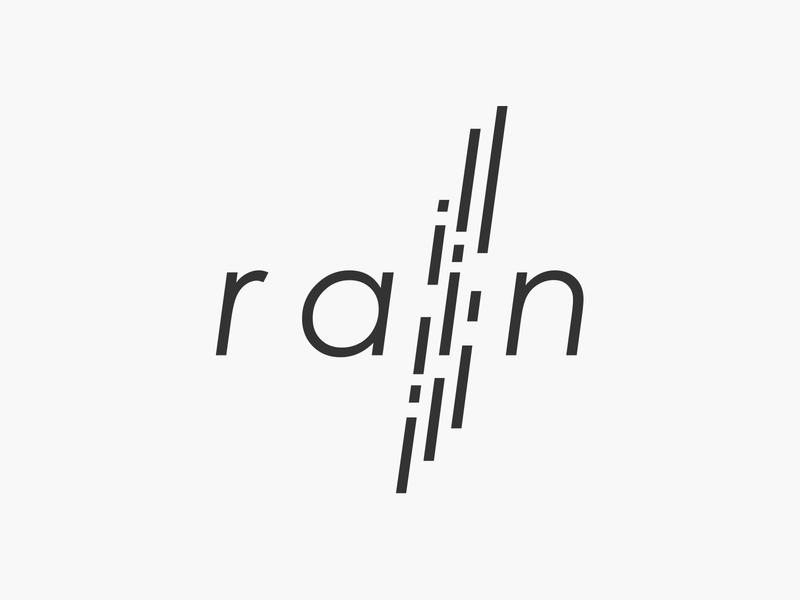 rain wordmark wordmark typography flat design vector simple logo clean rainy water rainfall rain