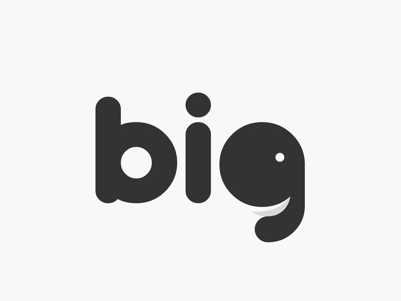 big wordmark logotype wordmark typography flat design vector simple logo clean elephant logo elephant big