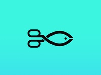 scissors fish logo