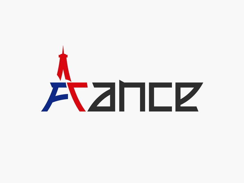 france wordmark illustration typography vector simple logo flat clean logotype wordmark eiffel eiffel tower france