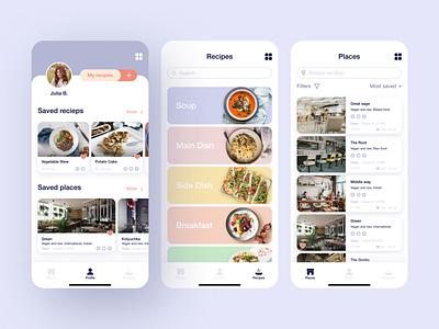 Vegan/Vegetarian Recipe App service app recipe app vegan food vegetarian vegan recipes application app design uiux design