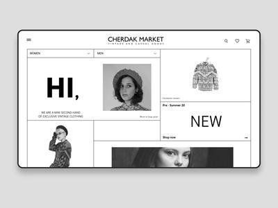 Design of a second hand shop site shop vintage exclusive clothes shop market second hand uxdesign homepage website design uidesign