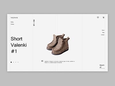 Valenok shop design animation homepage uxdesign boots shoe market online shop uidesign website design