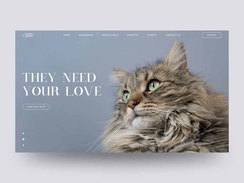 Animal Shelter adopt animal shelter animals pets uidesign uxdesign homepage website design