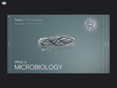 Evolutionary Design | Part 3 animation 3d animation article microbe microbiology natural science science uidesign website design