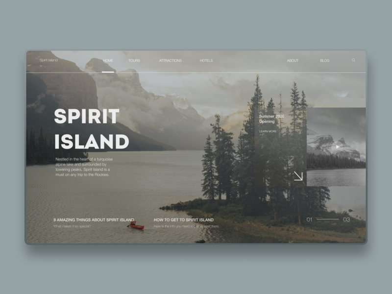Spirit Islands Design | Part 1 excursion attraction nature tour island tourism canada uxdesign mobile design homepage website design uidesign