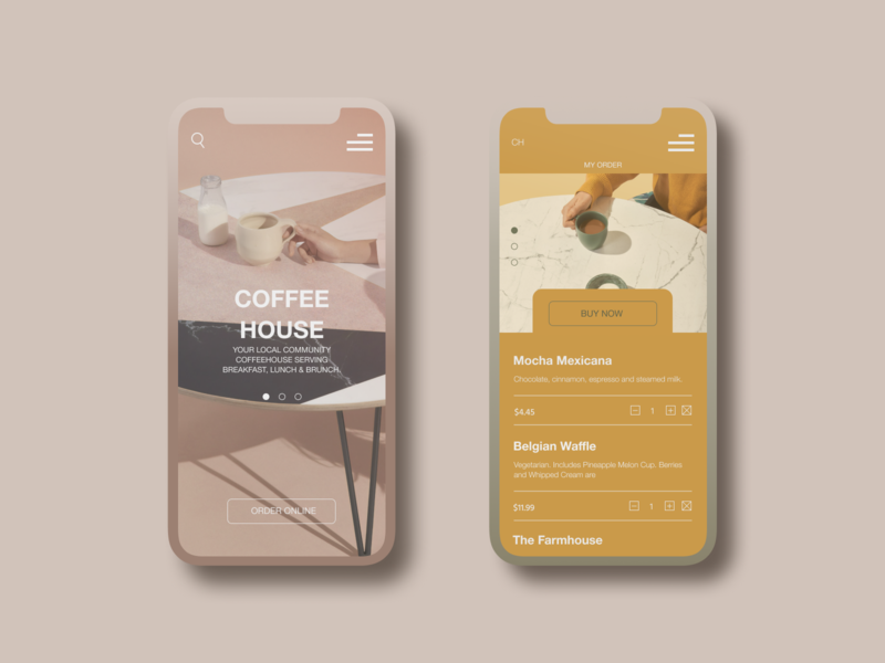 Mobile application for coffee shop pandemic delivery delivery app coffee house coffee shop coffee mobile app mobile app design application design app
