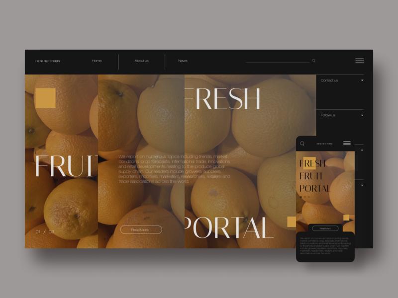 Fresh fruit portal Redesign portal market fruits mobile design homepage ux design ui design redesign webdesign