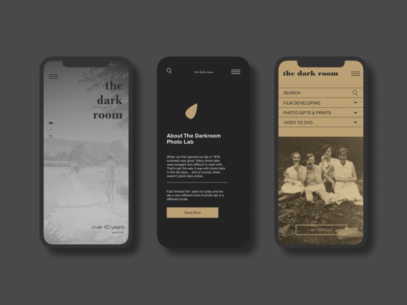Darkroom Redesign photo app films photography mobile design uidesign homepage website design