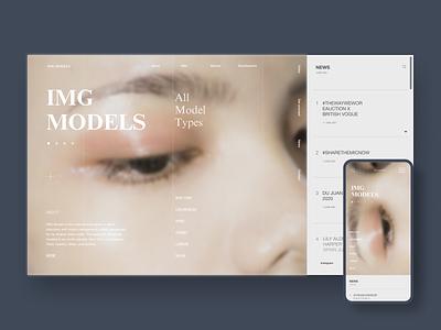 IMG Models Redesign minimalism mobile design models models agency agency uxdesign homepage uidesign website design