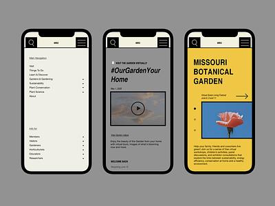 Missouri Botanical Garden Redesign botanical garden botanic redesign mobile mobile design homepage uidesign website design