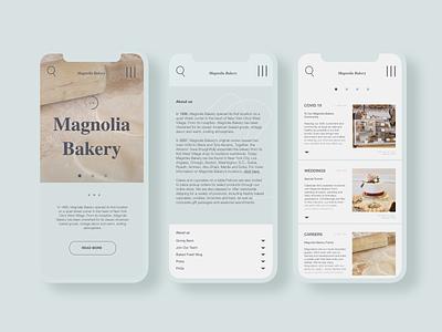 Magnolia Bakery Redesign redesign shop bakery mobile design mobile app uxdesign homepage uidesign website design