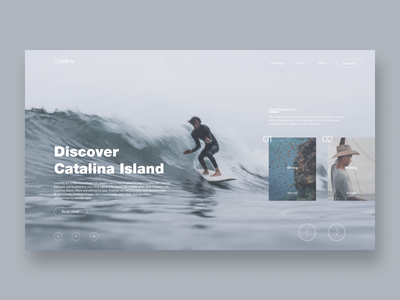 Catalina Island Redesign mobile design redesign uxdesign ui design uiux surfing fishing diving tourism tours booking homepage website design