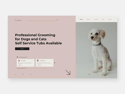 Pet Bath Redesign ux design ui design mobile ui dogs pets groomer redesign mobile design homepage website design